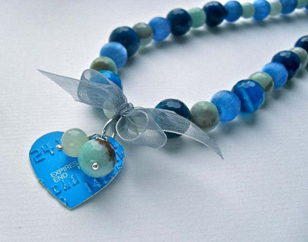 Blue Credit Card Necklace