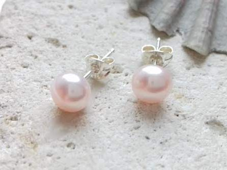 Light Pink Freshwater Pearl Studs