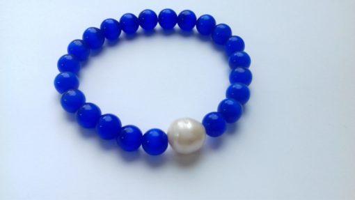 Blue Cats Eye Elastic Bracelet