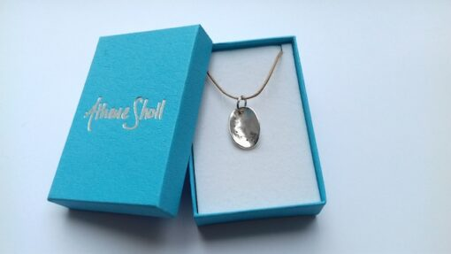 silver ormer pendant