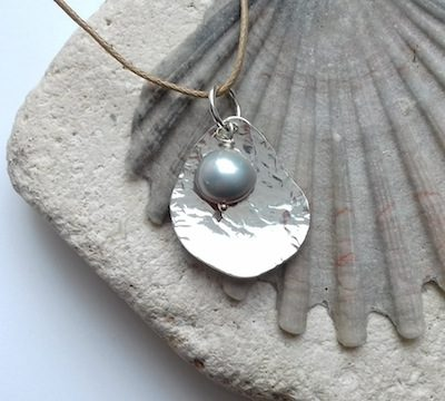 potato peel pearl pendant