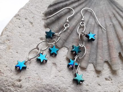 Green hematite star waterfalls