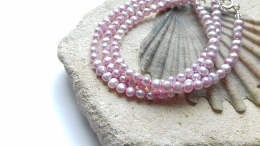 Pink Freshwater Pearl Bracelets