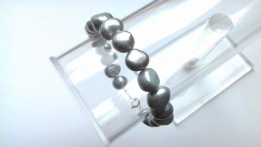 Grey Freshwater Pearl Bracelets