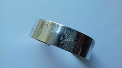 Solid Silver St Peter Port Daisy Cuff