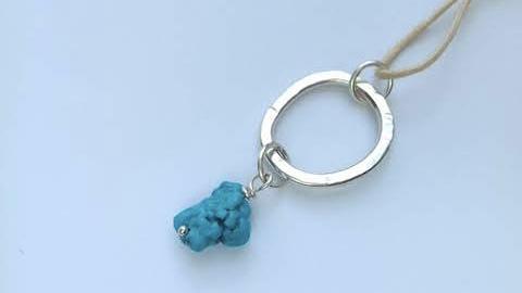 turquoise circle pendant