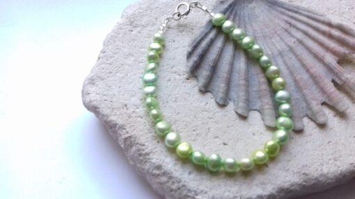Green Freshwater Pearl Bracelet