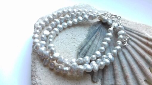 Pale Silver Freshwater Pearl Bracelet