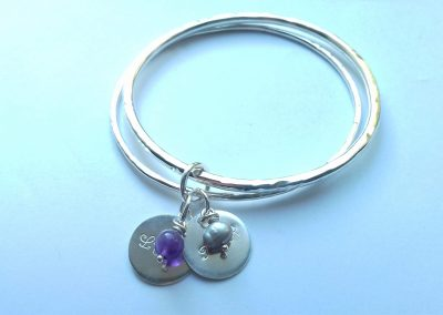 Personalised Double Bangle