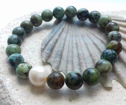 african turquoise elastic bracelet