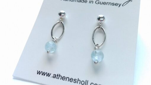 Aquamarine Drop Studs