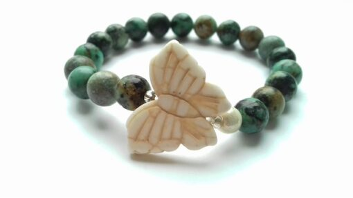 african turquoise and howlite butterfly