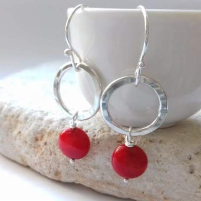 Bamboo Coral Earrings