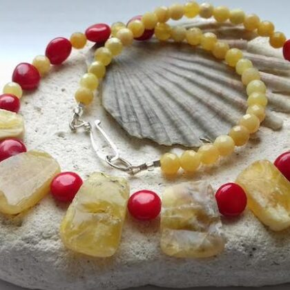 Red and Yellow Necklace