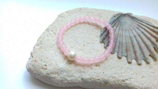 Rose Quartz Semi-Precious Bracelet