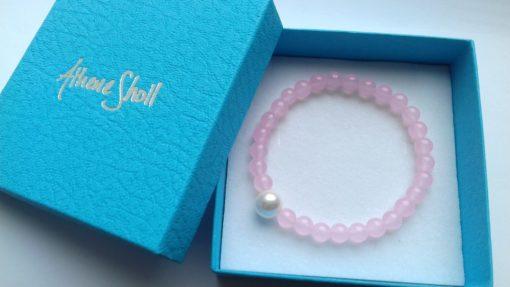 Rose Quartz Semi-Precious Bracelets in the gift box