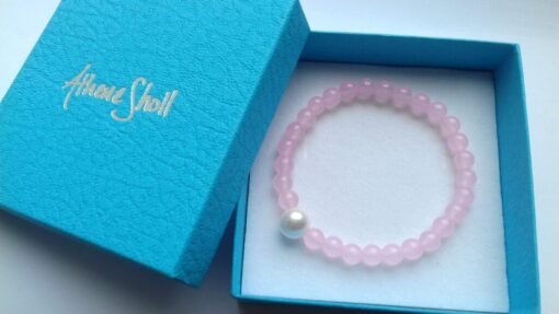 Rose Quartz Semi-Precious Bracelets in the gift box