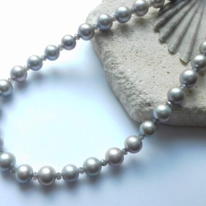 French Grey Colour Theory Necklace