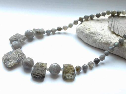 Grey Labradorite Necklace