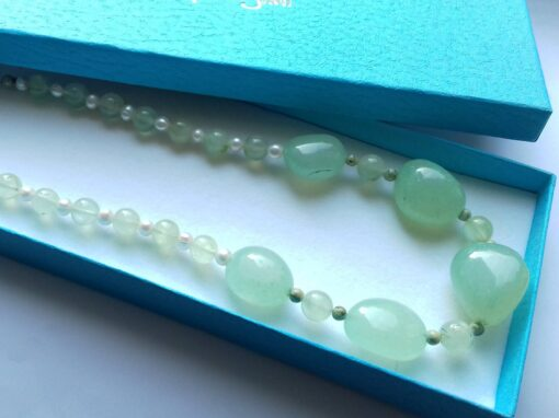 Light Greenery Chalcedony Necklace
