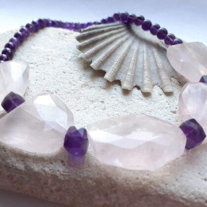 Rose Quartz and Amethyst Necklace