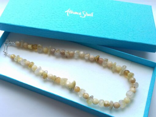yellow opal and quartz necklace