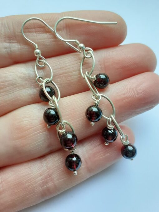 garnet earrings on hand
