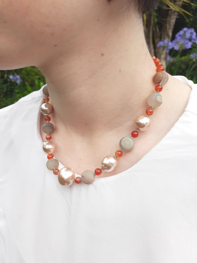 Murky Orange Necklace Lifestyle