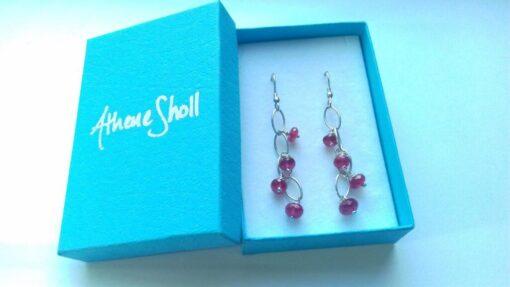 Ruby Waterfall Earrings
