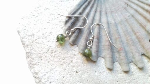 Dainty Peridot Hook Earrings