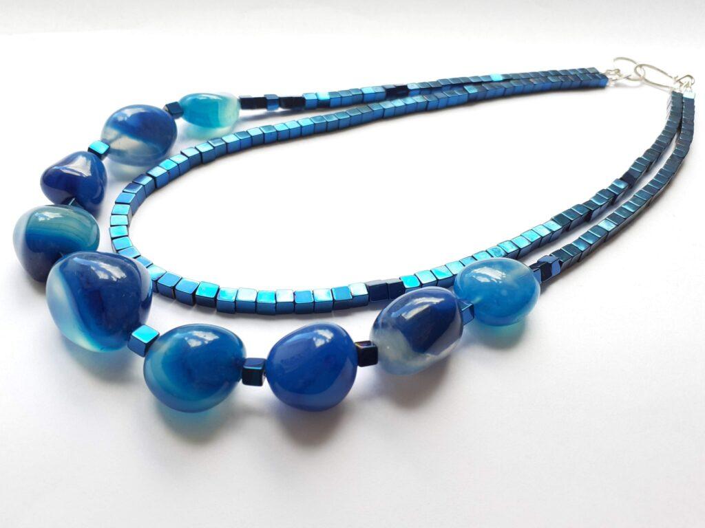 Classic Blue Hematite Necklace