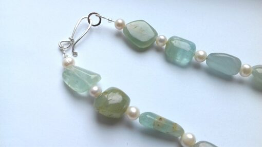 Amazonite and Freshwater Pearl Necklace