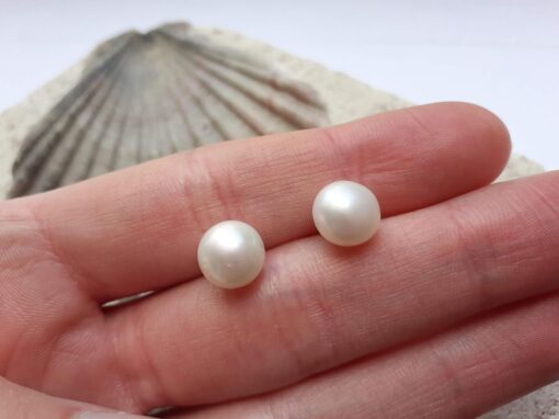 Classic White Freshwater Pearl Studs