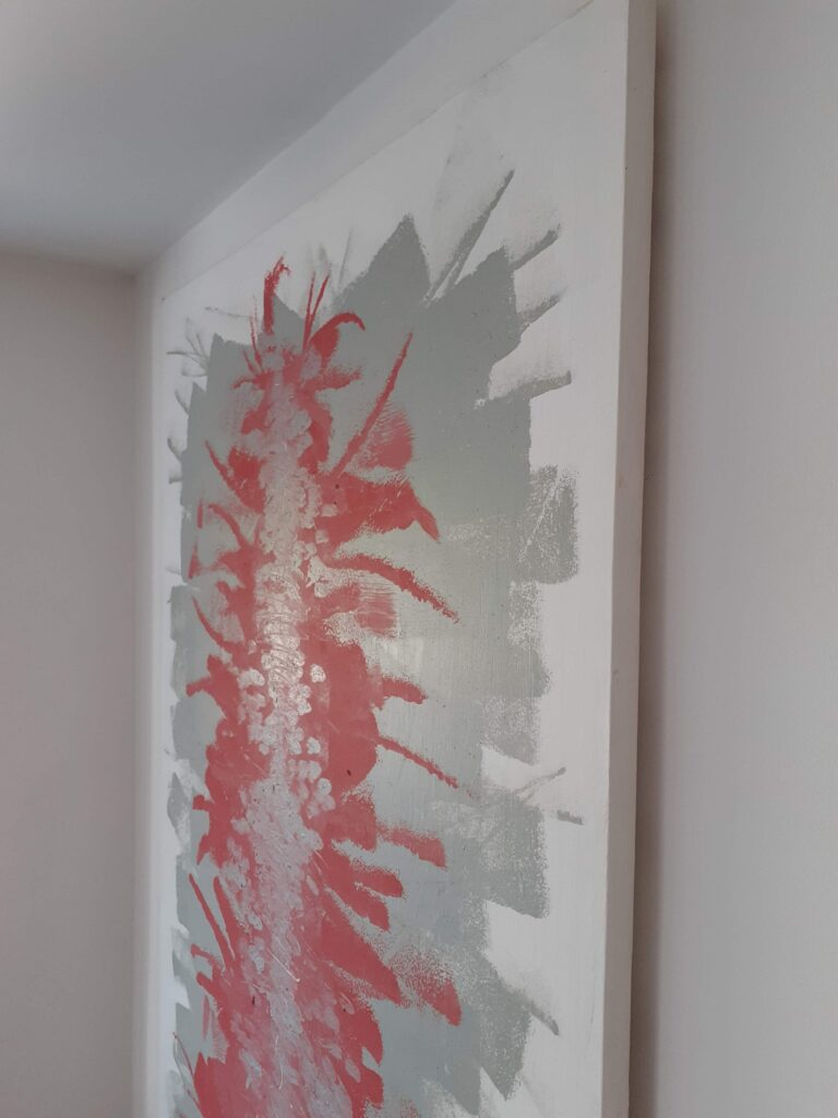 Energy Flash Painting for the Guernsey Arts Commission's Open Exhibition