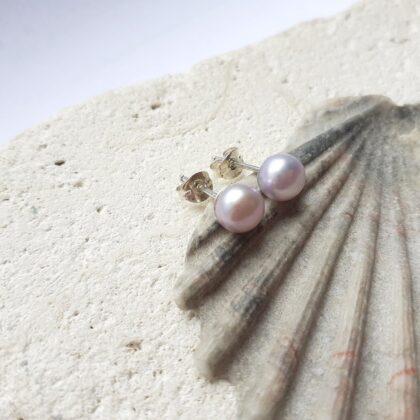 Dainty Freshwater Pearl Studs
