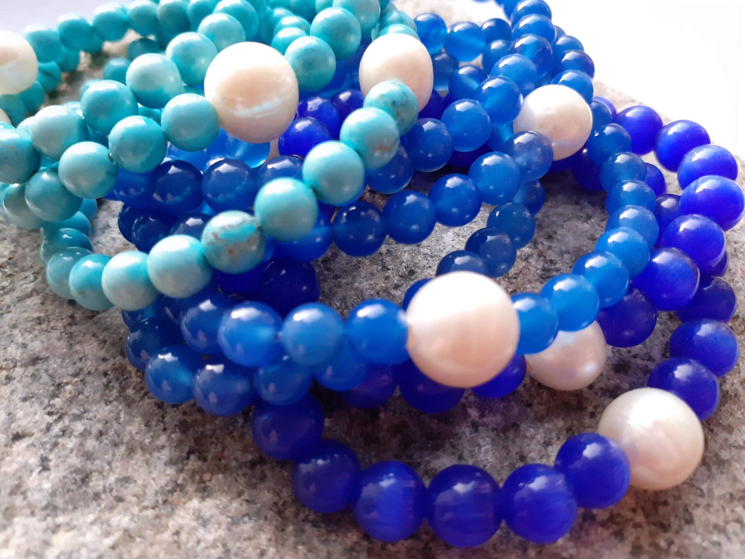 Blue Semi Precious Bracelet Header