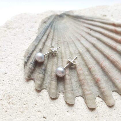 Grey 5-5.5mm Freshwater Pearl Studs