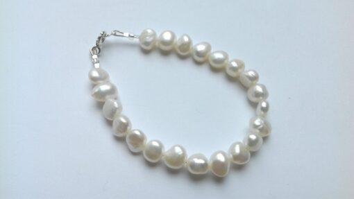 Chunky White Freshwater Pearl Bracelets