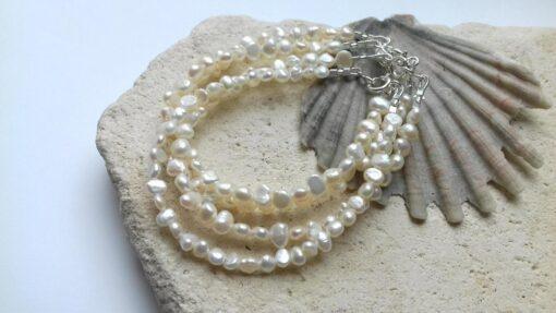White Keshi Freshwater Pearl Bracelet