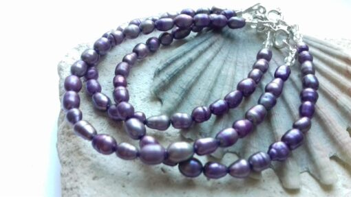 Purple Keshi Freshwater Pearl Bracelet
