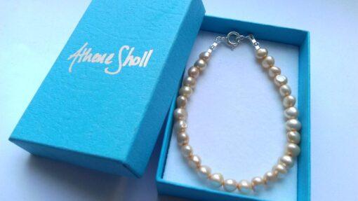 Pale Yellow Keshi Freshwater Pearl Bracelet