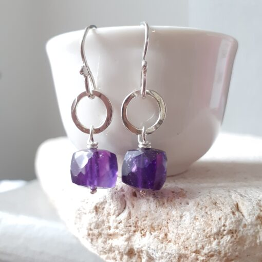 Amethyst Disco Earrings