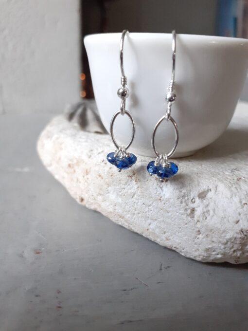 Kyanite Navette Dangle Earrings