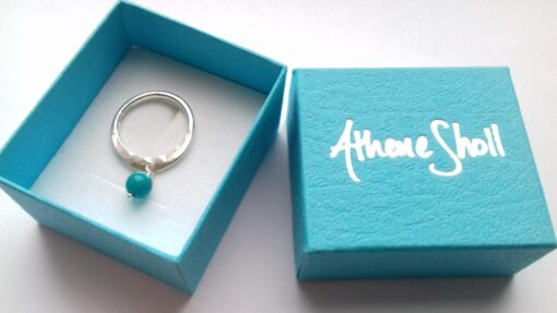 Turquoise Dangle Stone Silver Ring