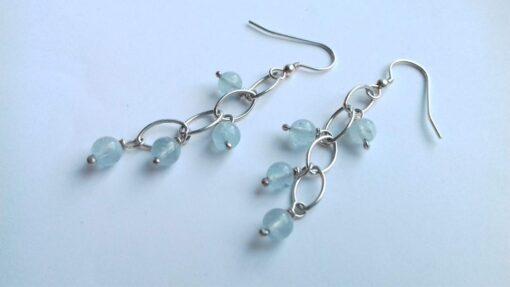 Aquamarine Waterfall Earrings