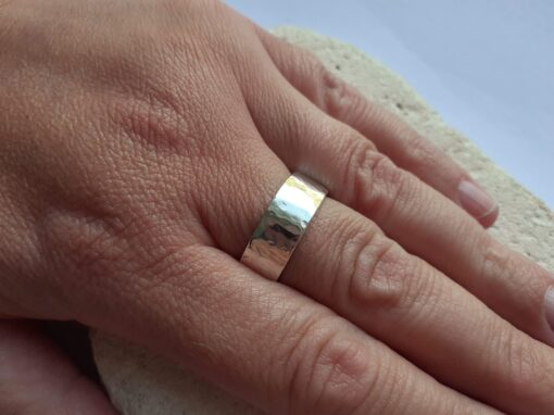 Chunky Textured Sterling Silver Ring
